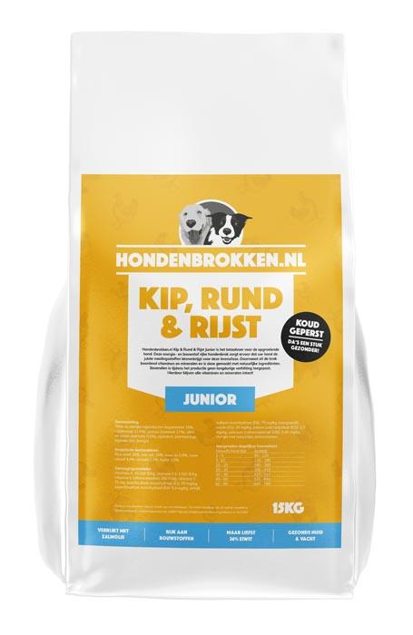 Hondenbrokken.nl Kip Rund & Rijst Junior