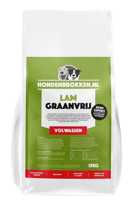 Hondenbrokken.nl Lam Graanvrij Volwassen