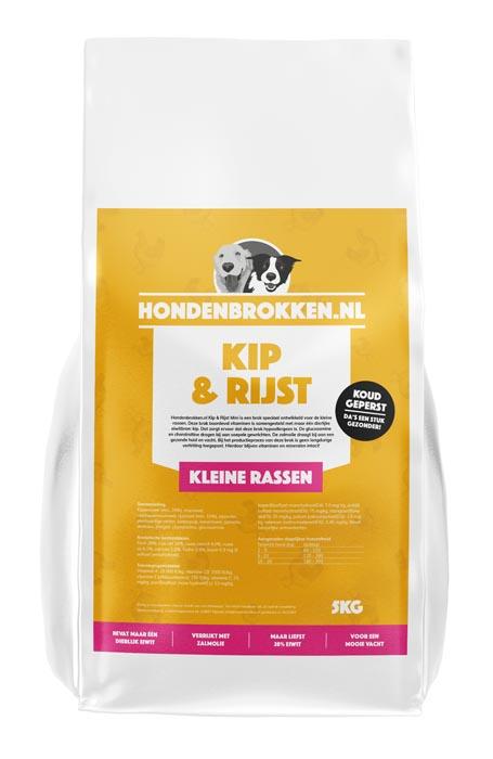 Hondenbrokken.nl Kip & Rijst Kleine Rassen