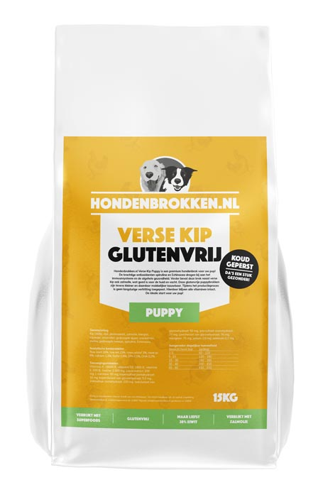Hondenbrokken.nl Verse Kip Puppy (glutenvrij)