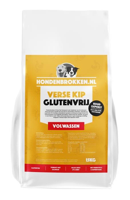 Hondenbrokken.nl Verse Kip Volwassen (glutenvrij)