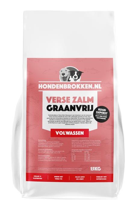 Hondenbrokken.nl Verse Zalm Volwassen (graanvrij)